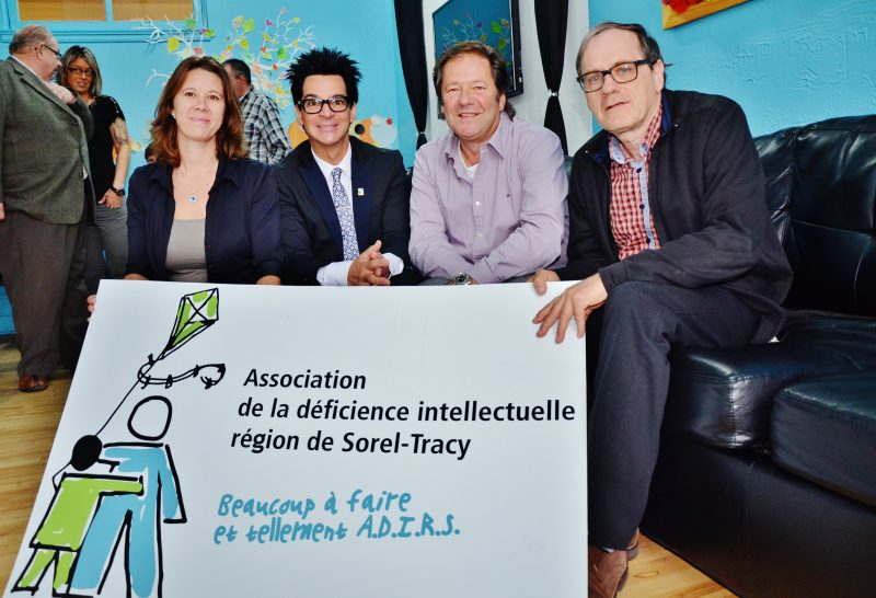 La directrice Julie Trudeau, le porte-parole et maire de Sorel-Tracy Serge Péloquin, le président Jean Cournoyer et le président du conseil d'administration, Jean Dumas | Photo: TC Média - Julie Lambert
