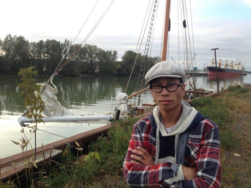 Alexandre Vovan participera, en chaloupe, à cette manifestation contre le déversement des eaux usées montréalaises dans le fleuve.   TC Média - Gracieuseté/Caroline Morrison