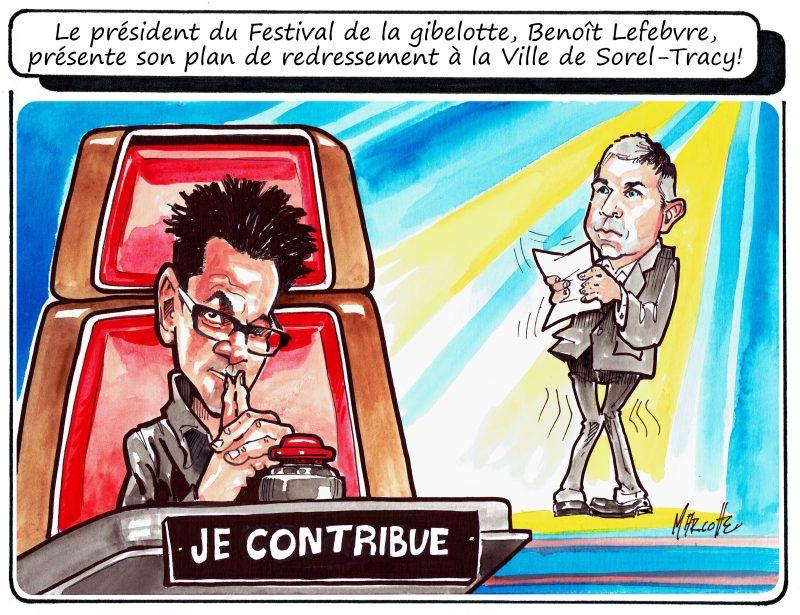 La présentation du plan de redressement vue par notre caricaturiste, Gilles Bill Marcotte!   Gilles Bill Marcotte