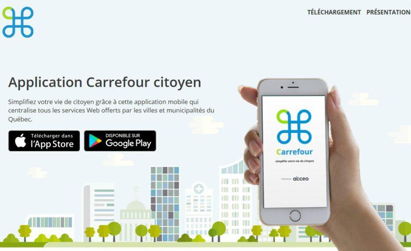 L'application se nomme Carrefour citoyen. | Tirée du site Internet