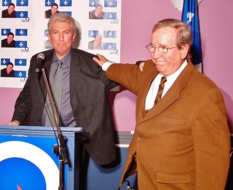 Gilles Duceppe au côté du député fédéral Louis Plamondon en 2003. | Photo : TC Média - Archives