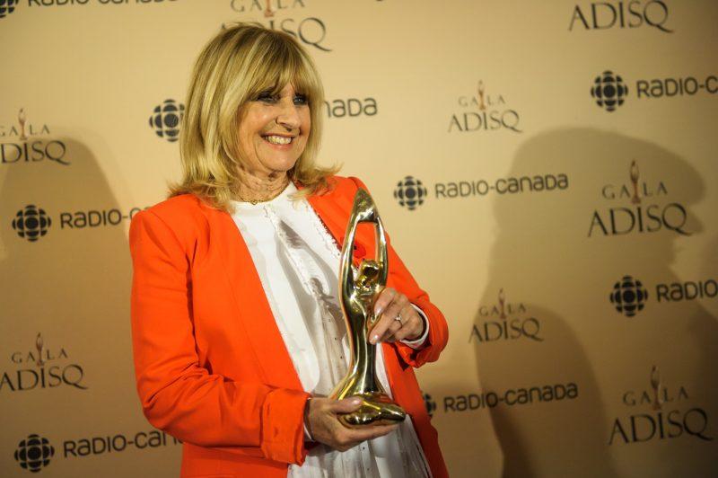 Dominique Michel recevait l'hommage au Gala de l'ADISQ, le 8 novembre à la Salle Wilfrid-Pelletier de la Place des Arts. | Photo: TC Média - Chantal Lévesque