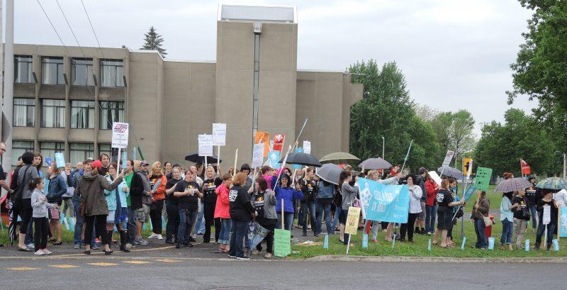 Les enseignants utiliseront des moyens de pression au cours des prochaines semaines. | Photo: TC Média - Sarah-Eve Charland