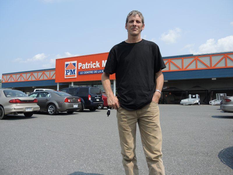 Patrick Morin ne respecte pas les voisins, déplore le citoyen Dany Forget.   TC Média - Sarah-Eve Charland