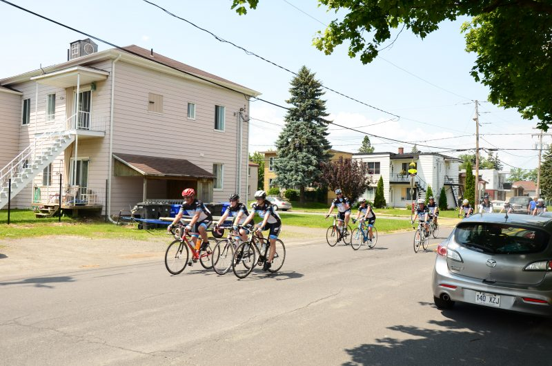 Le Tour CIBC Charles-Bruneau de passage à Contrecoeur le 10 juillet.