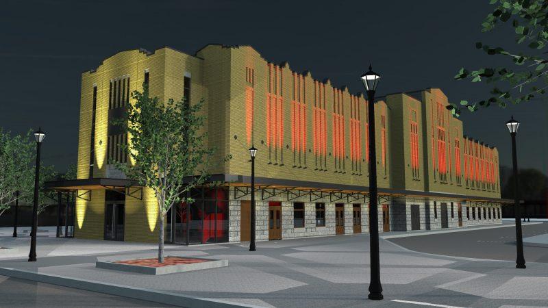 La brique du marché Richelieu sera changée et un effet lumineux rouge sera ajouté.   Photo: gracieuseté - Éric Champagne architecte