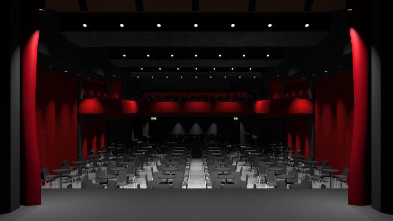 La salle Georges-Codling avec vue de la scène.   Photo: gracieuseté - Éric Champagne architecte