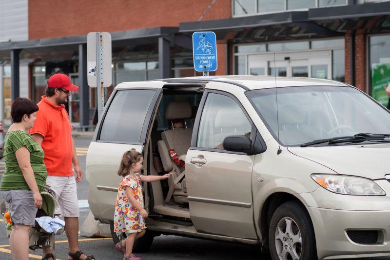 On voit plus d'espaces de stationnement pour les familles avec jeunes enfants. | Photo:TC Média - Gracieuseté/Caroline Morrisson