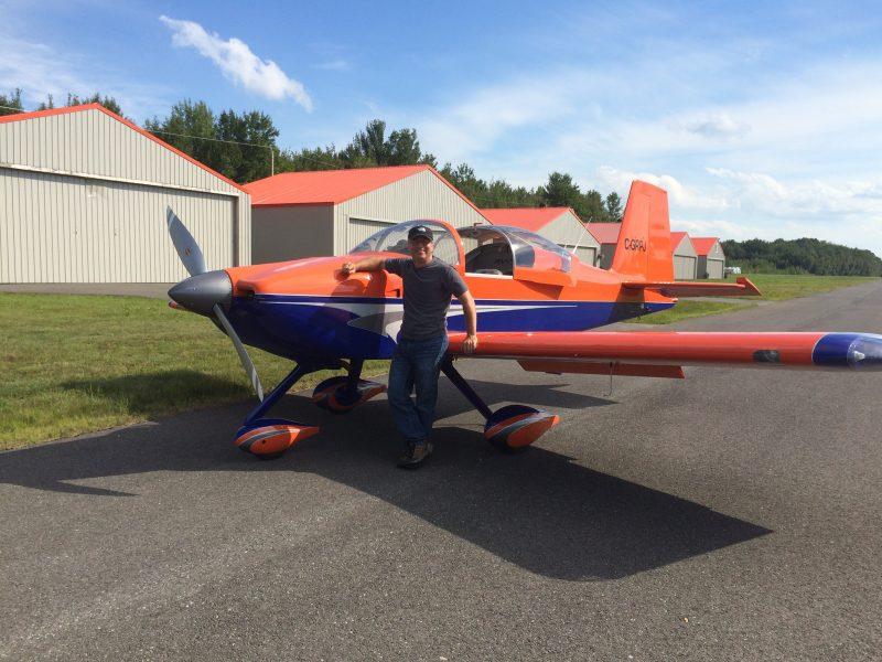Éric Falardeau entrepose son avion à l'aéroport de Sorel-Tracy à Saint-Robert. | Photo: gracieuseté