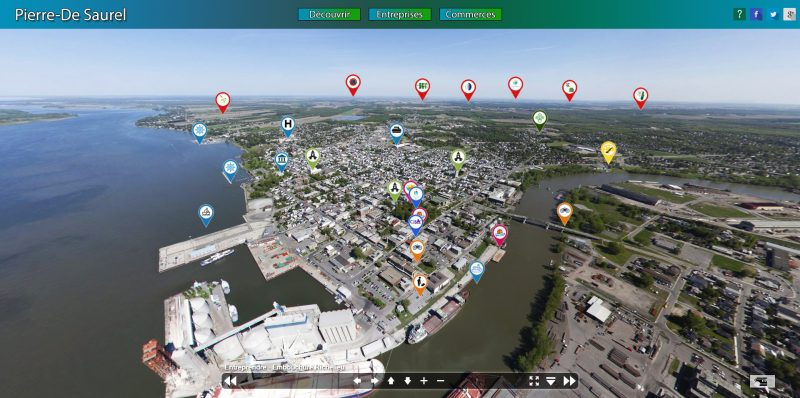 La carte interactive qui propose une visite virtuelle en panorama de la région. | Photo: tirée du site pierredesaurel.net