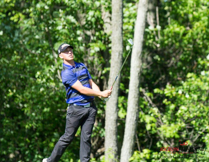 L'Ontarien Brendan Leonard a gagné un tournoi canadien au club de golf Continental à Sainte-Victoire-de-Sorel. | Jocelyn Falardeau photographe