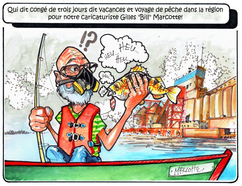 Notre caricaturiste a pris des vacances bien méritées la semaine dernière... En a-t-il vraiment profité? :) | Gilles Bill Marcotte