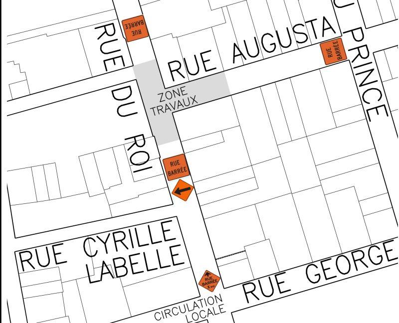 La Ville de Sorel-Tracy a élaboré la plan des rues touchées pour les travaux d'aqueduc. | Gracieuseté
