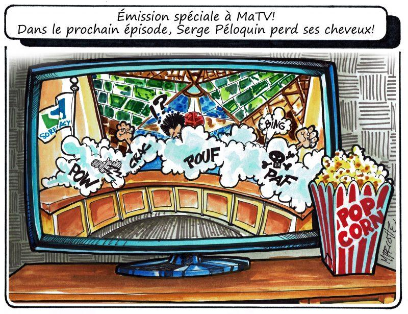 La séance ordinaire du 4 avril a brassé, ce qui a inspiré notre caricaturiste Gilles Bill Marcotte! | Gilles Bill Marcotte
