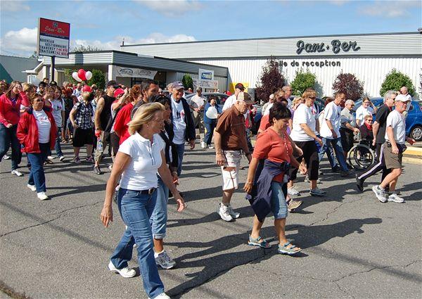 La marche «Les Kilomètres de l'espoir» est en vigueur depuis plusieurs années à Sorel-Tracy. | Photo: TC Média - archives