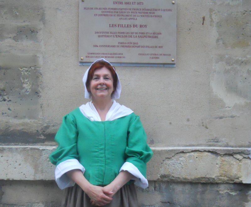 Sur la photo, Michelles Desfonds qui personnifie Marie-Chapdeleine de Chevrainville, Fille du Roy qui est venue s'installer à Sorel-Tracy en 1675 | Archives