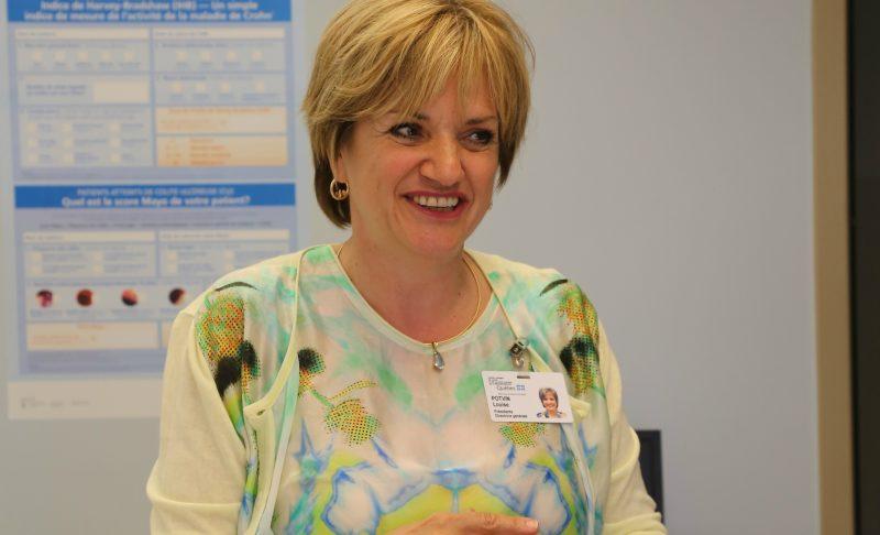 La présidente-directrice générale du CISSS Montérégie-Est, Louise Potvin | TC Média - Pascal Cournoyer