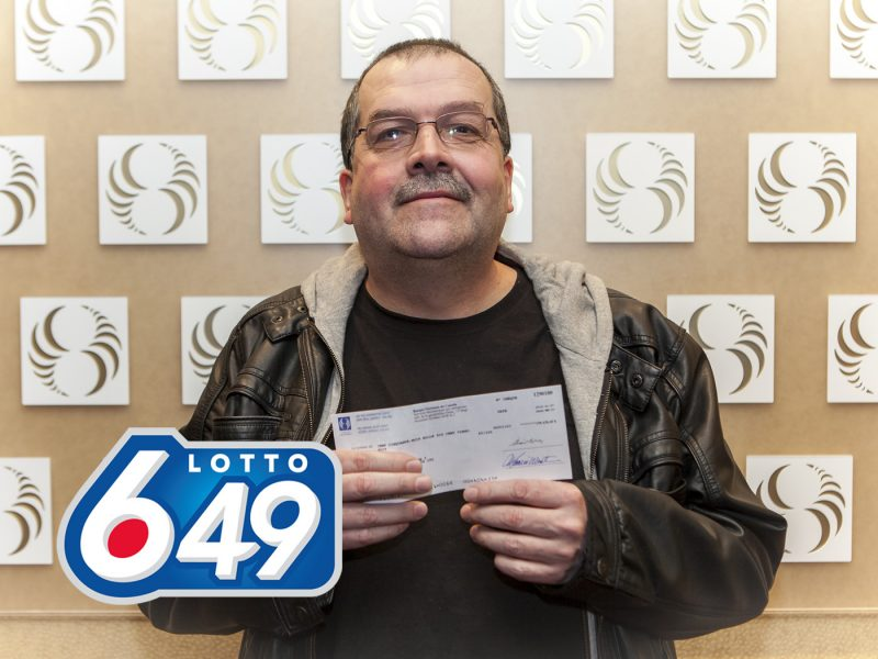 Sylvain Lavallée a gagné 158 628$ au Lotto 6/49. | Photo: Gracieuseté