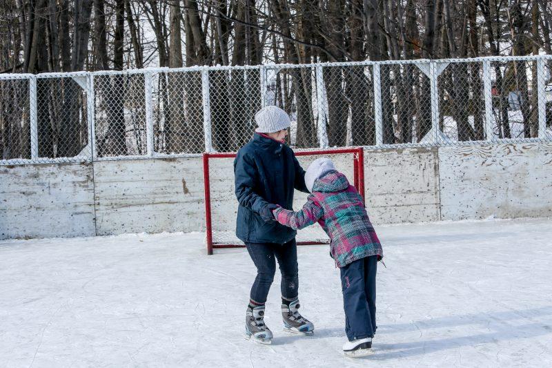 Les patinoires extérieures ont été ouvertes au début du mois de janvier. | TC Média - Pascal Cournoyer