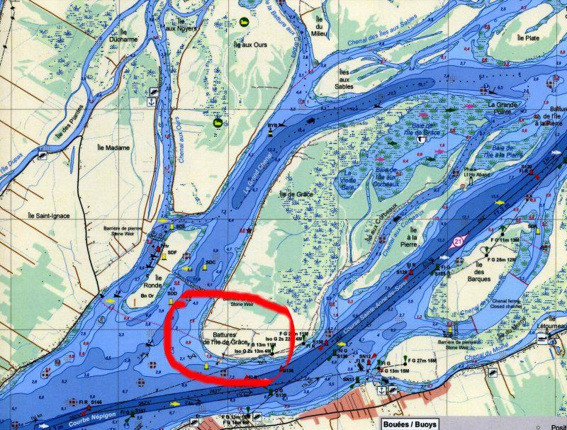 La Pointe Ouest de l'Île de Grâce, de 250 m de long et 30 m de large, est maintenant protégée. | Gracieuseté