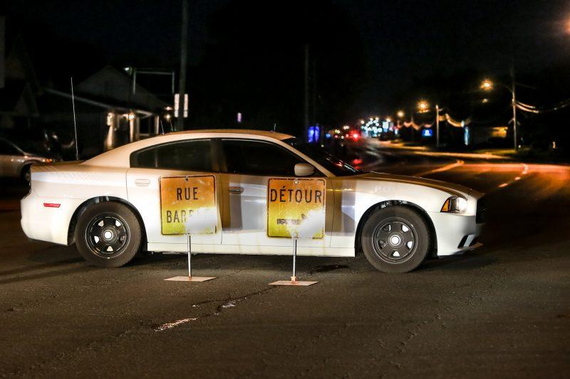 Le boulevard Fiset était toujours fermé vers 20h30. | TC Média - Pascal Cournoyer