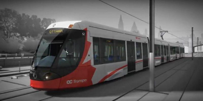 Un wagon du tram-train d'Ottawa.   Photo: tirée d'une vidéo Youtube