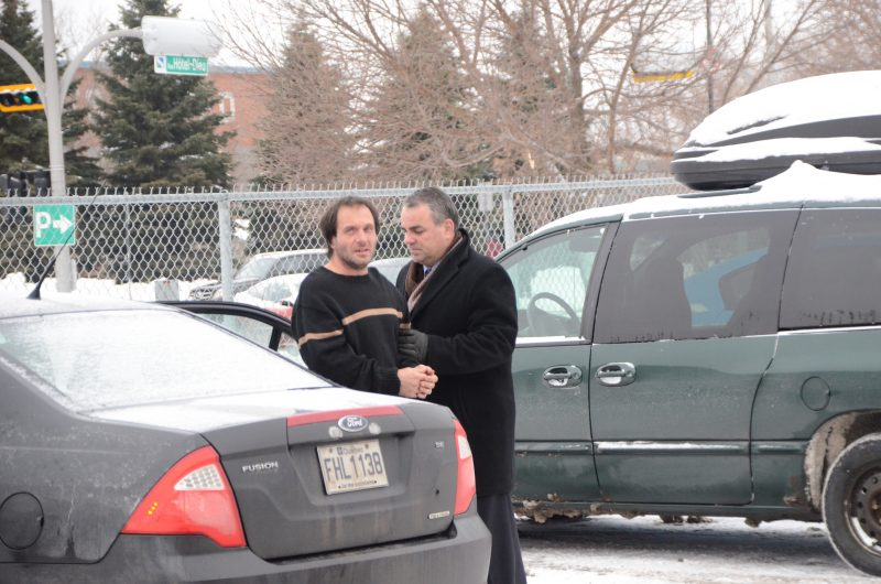 François Laramée lors de son arrestation en décembre 2013. | TC Média – Archives/Jean-Philippe Morin