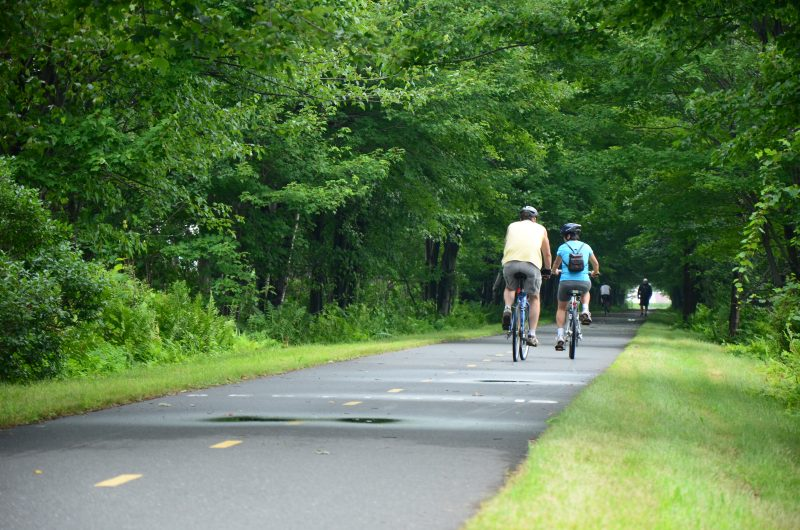 Le réseau cyclable La Sauvagine attend toujours une subvention pour poursuivre le prolongement de la piste cyclable. | TC Média - Julie Lambert