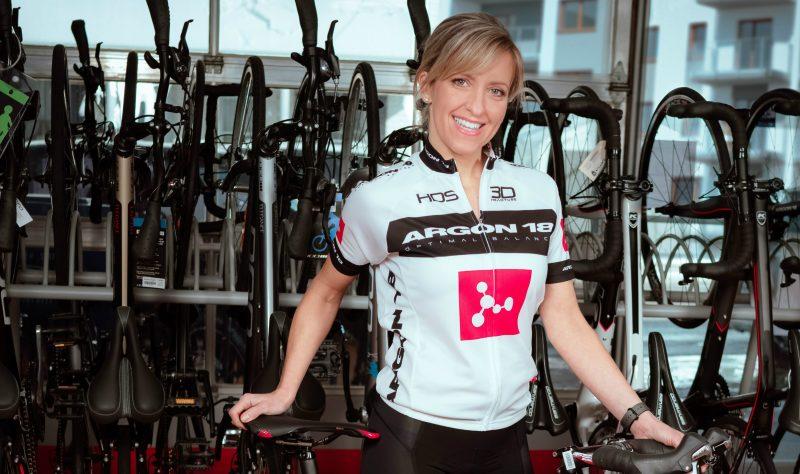L'entrepreneure et présidente d'honneur, Isabelle Caza a invité la population à participer au Défi Vélo Lussier le 15 juillet. | Gracieuseté/Mireille Caza