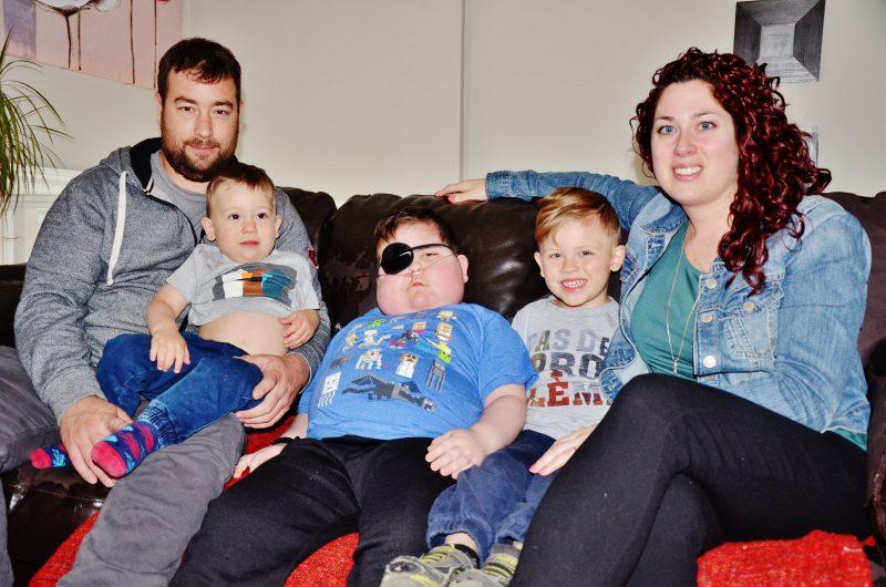 Une photo de la famille Caisse lors de l'entrevue avec le Journal en juin dernier. | Photo: TC Média - Julie Lambert