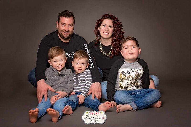 La famille Chenette-Caisse. | Photo: gracieuseté – Studio Lam