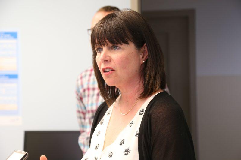 La directrice générale de la Fondation Hôtel-Dieu de Sorel, Nathalie St-Germain, assure que les sous seront utilisés en pneumologie. | TC Média - Pascal Cournoyer