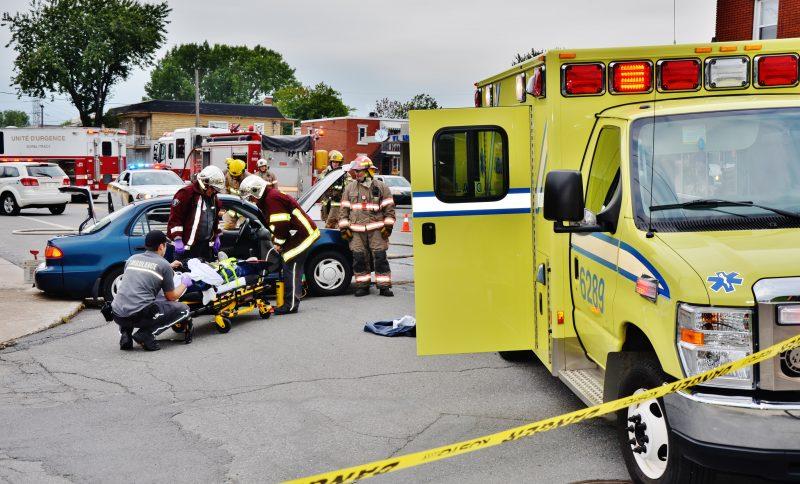 Une collision entre une voiture et un camion a eu lieu ce matin sur la route Marie-Victorin faisant deux blessés mineurs. | Photo: TC Média – Julie Lambert