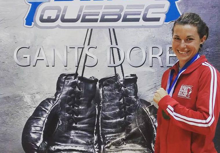 Laury Gervais est la championne québécoise des Gants dorés chez les 57 kg. | Photo: tirée de Facebook