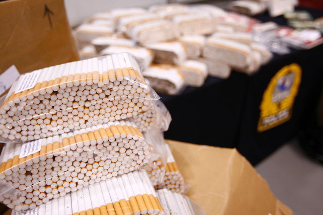 Un Sorelois a reçu une amende salée de plus de 200 000$ après avoir fait de la contrebande de tabac.   Photo: TC Média - Archives