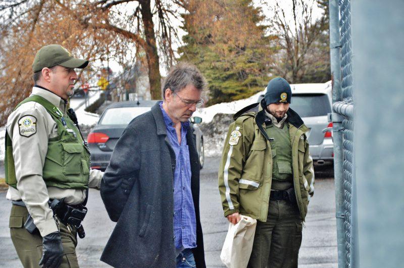 François Harvey, à son entrée au palais de justice de Sorel-Tracy, le 15 mars. | Photo: TC Média – Jean-Philippe Morin