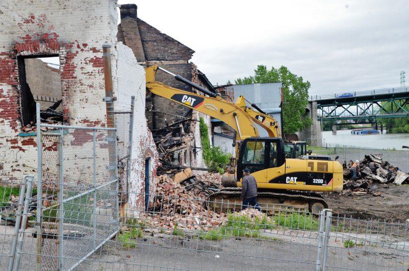 Les travaux de démolition d'urgence ont nécessité un investissement de plus de 38 000$ de la Ville de Sorel-Tracy.