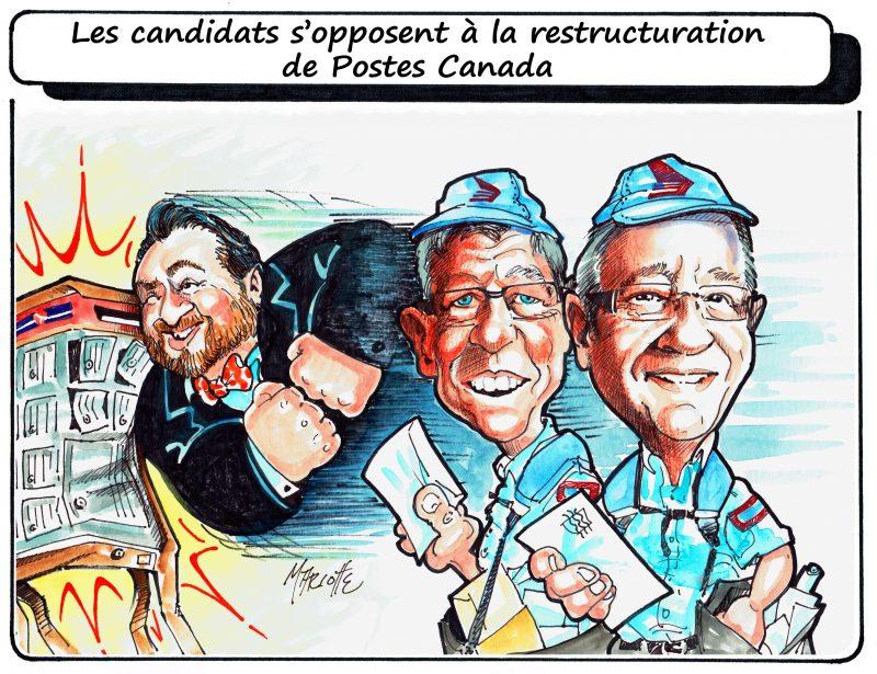 Caricature de Gilles Bill Marcotte en cette campagne électorale. | Gilles Bill Marcotte