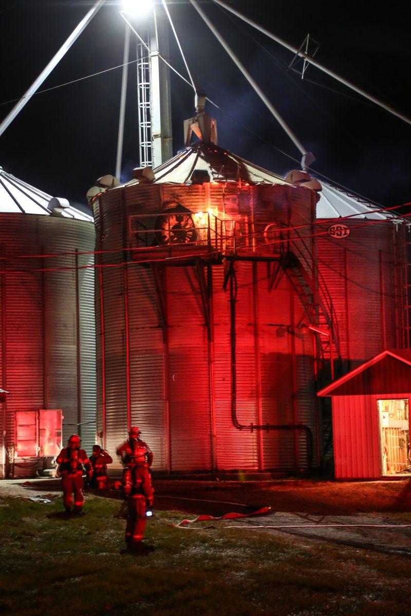Un incendie a touché un bâtiment agricole situé à Sainte-Victoire-de-Sorel.