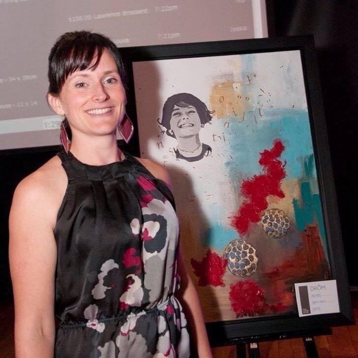 L'artiste soreloise Joanie Martel présente une exposition solo au centre récréatif Au fil des ans jusqu'au 18 décembre prochain. | Photo: Gracieuseté