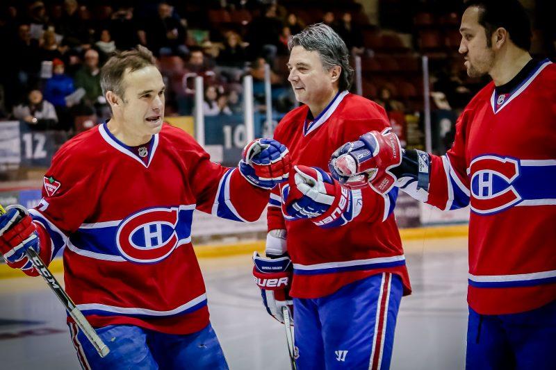 Gilbert Delorme s'est beaucoup amusé, tout comme Normand Dupont et Mathieu Dandenault. | Photo: TC Média - Pascal Cournoyer