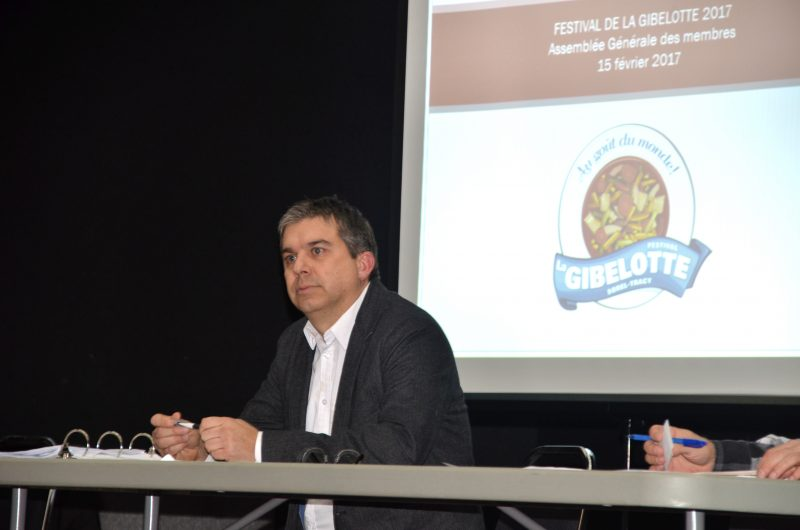 Benoît Lefebvre a été réélu comme président du Festival de la gibelotte. | Photo: TC Média – Jean-Philippe Morin