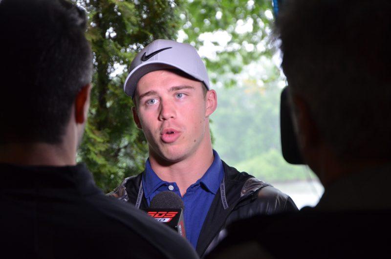 Anthony Beauvillier était présent, vendredi matin, pour répondre aux questions des journalistes. | Photo: TC Média - Jonathan Tremblay