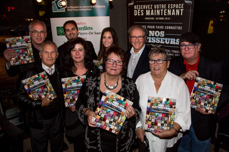 Plusieurs dignitaires étaient présents pour le lancement du livre «Nos Bâtisseurs» le 15 octobre.   TC Média - Pascal Cournoyer