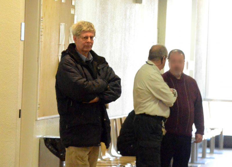 Le prêtre Daniel Moreau était présent au palais de justice de Sorel-Tracy, le 17 février, pour enregistrer son plaidoyer de culpabilité. | Photo: TC Média – Jean-Philippe Morin