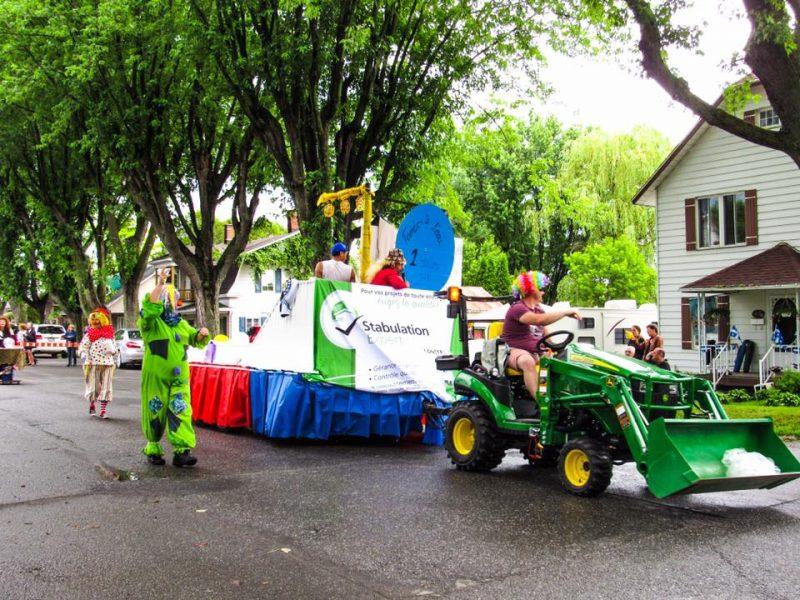 Une grande parade a eu lieu à Massueville lors de a Fête nationale. | Photo: Gracieuseté – Caroline Bouchard