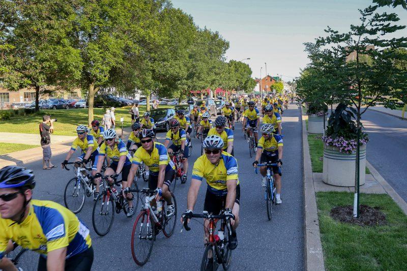 Le Défi Vélo Lussier a réuni environ 200 cyclistes, le 15 juillet. | Pascal Cournoyer
