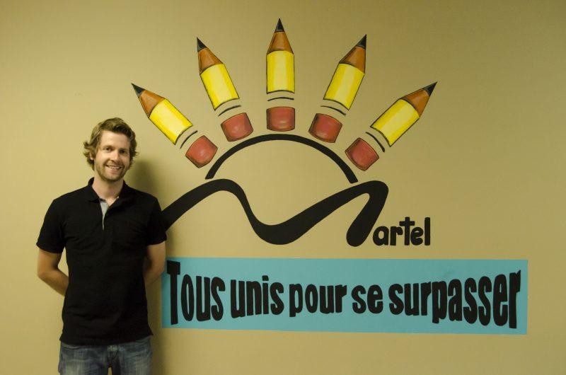 Patrick Lamothe est officiellement le nouveau directeur de l'école Martel de Saint-Joseph-de-Sorel. | Photo: TC Média – Stéphane Martin
