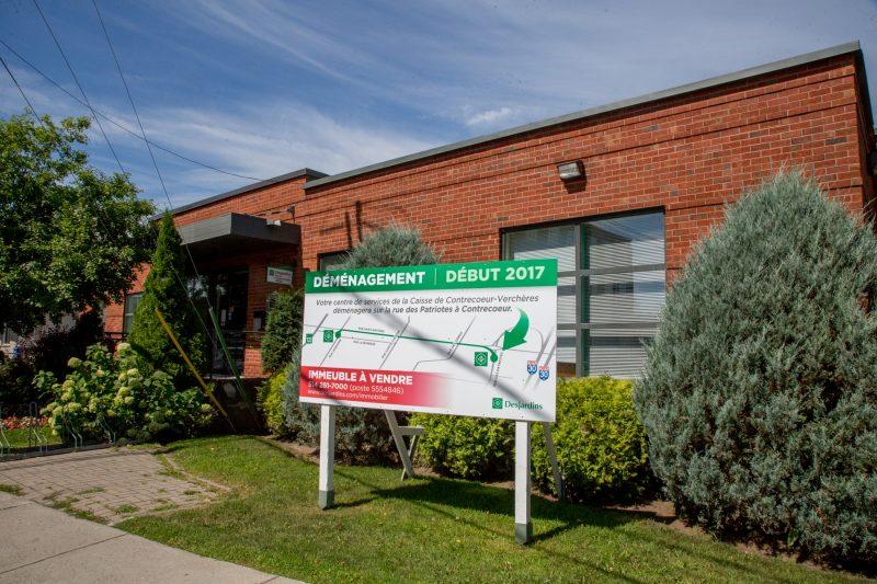 La Caisse Desjardins de Contrecœur-Verchères a mis en vente son bâtiment en juin. | TC Média - Pascal Cournoyer