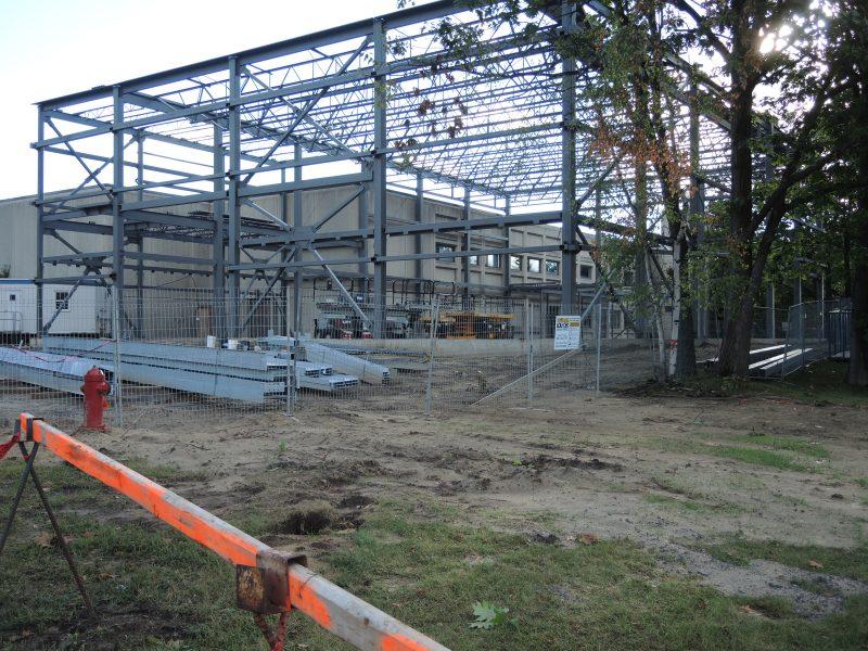 Le nouveau gymnase du Cégep de Sorel-Tracy est en construction. | TC Média - Sarah-Eve Charland